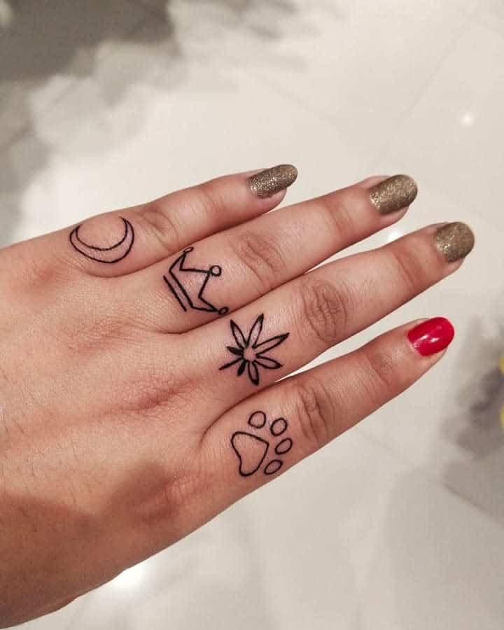 Small Symbol Finger Tattoos 34inkredibletattoo