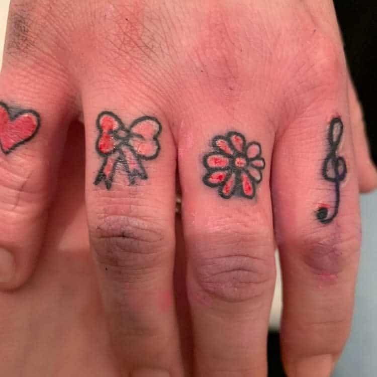 Small Symbol Finger Tattoos pinkchameleontattoos
