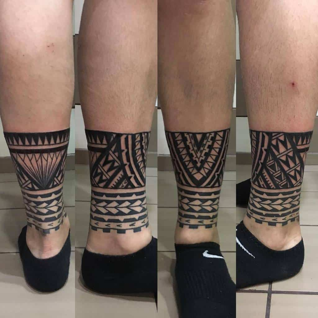 Small Tribal Ankle Tattoos anna_karagkouni
