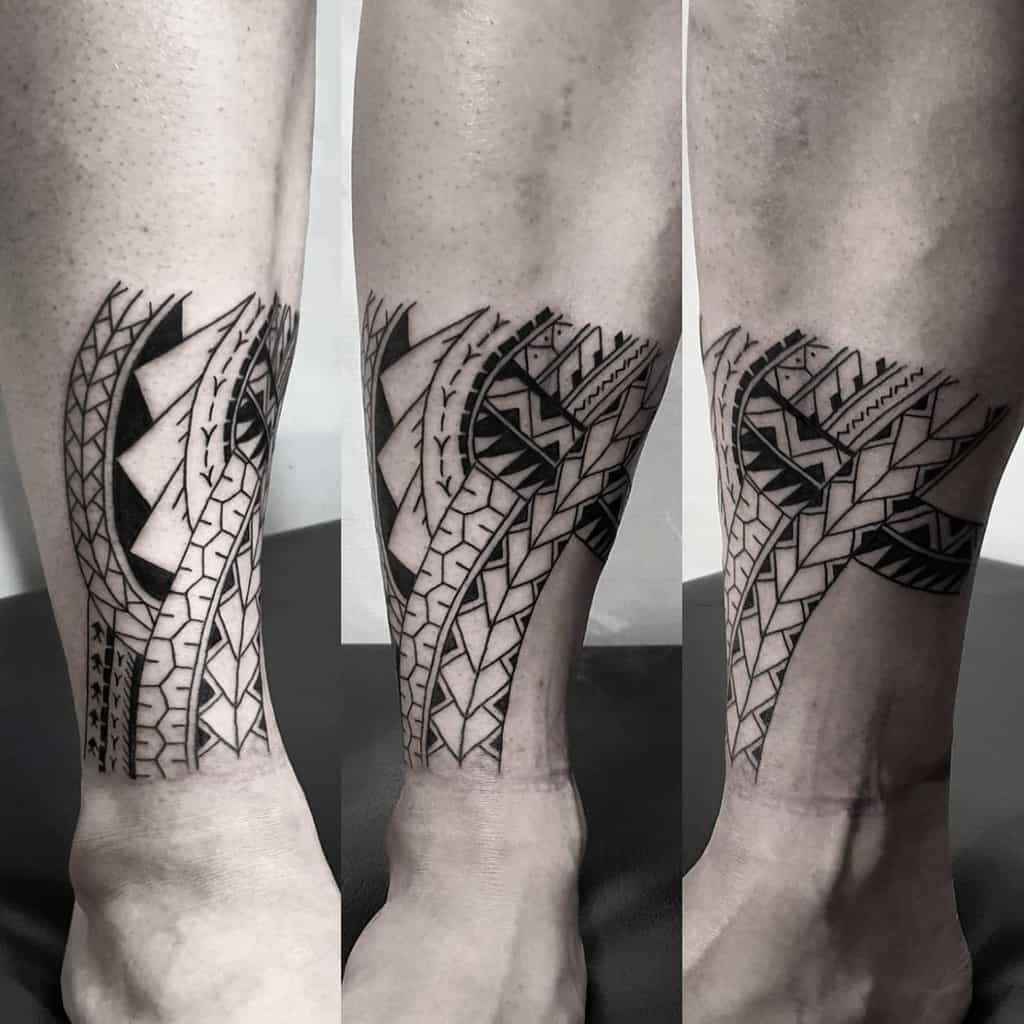 Small Tribal Ankle Tattoos elotattoo_