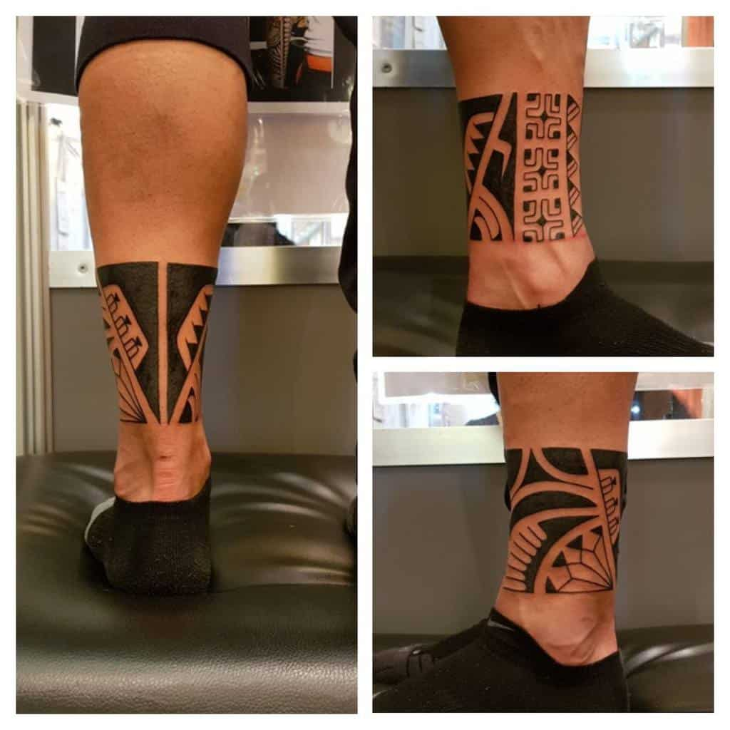 Small Tribal Ankle Tattoos street_art_tattoo