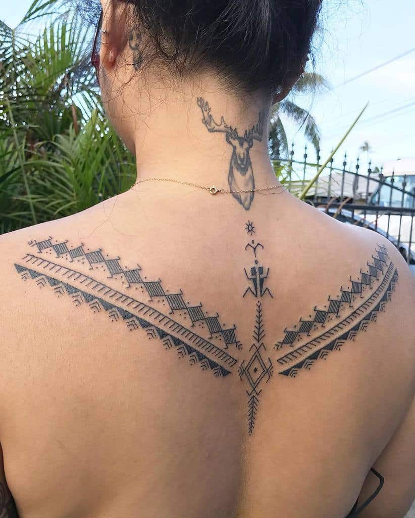 Small Tribal Back Tattoos tatakbyayla