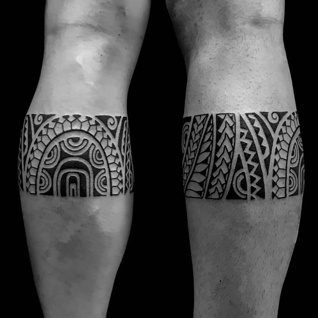 Small Tribal Leg Tattoos jonytattoo_