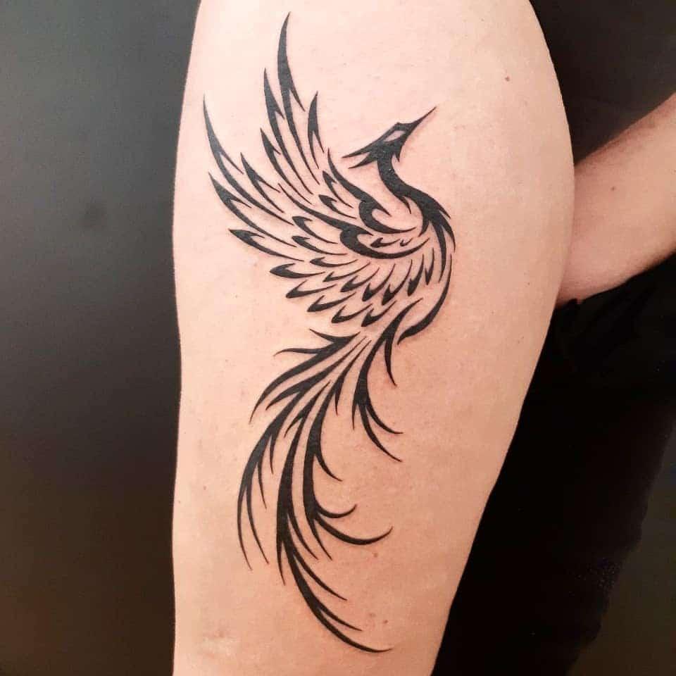 Small Tribal Phoenix Tattoos zele.tattoo.piercing