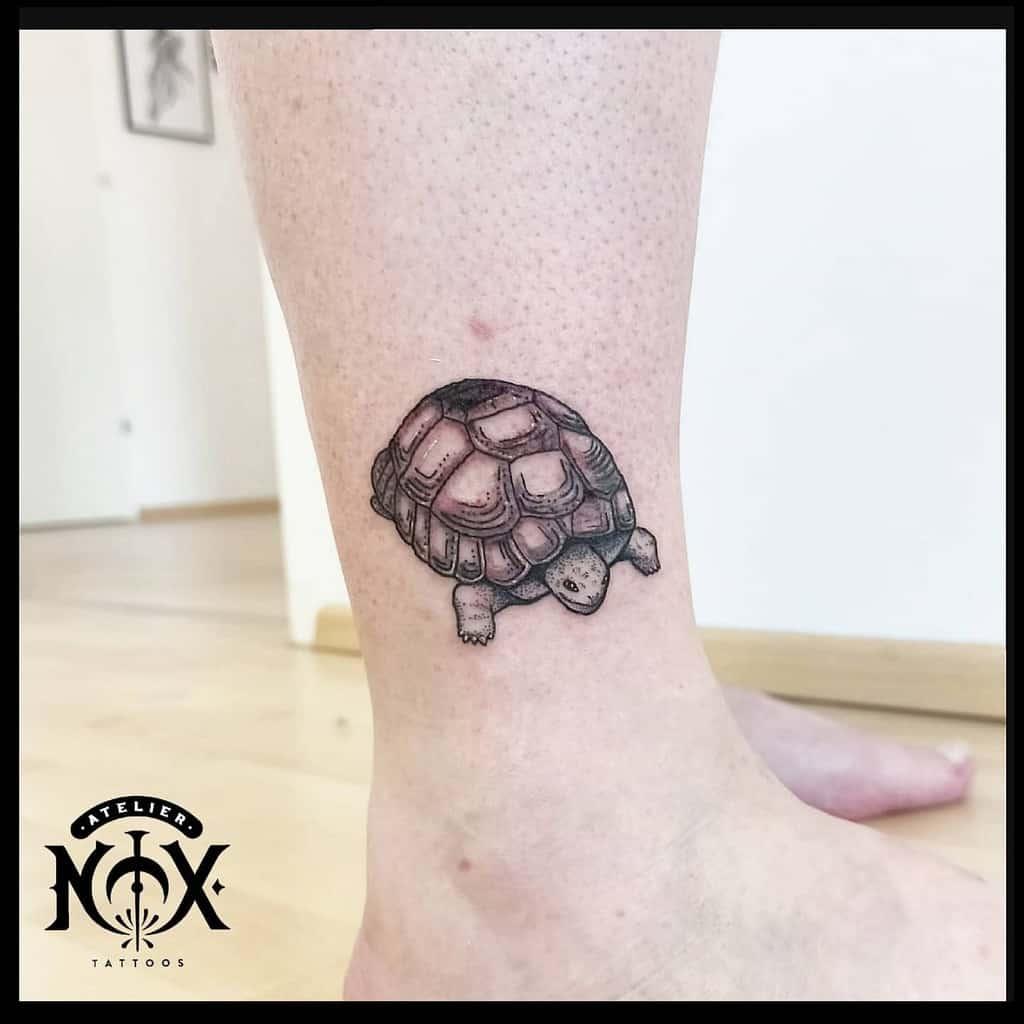 Small Turtle Ankle Tattoos ateliernox