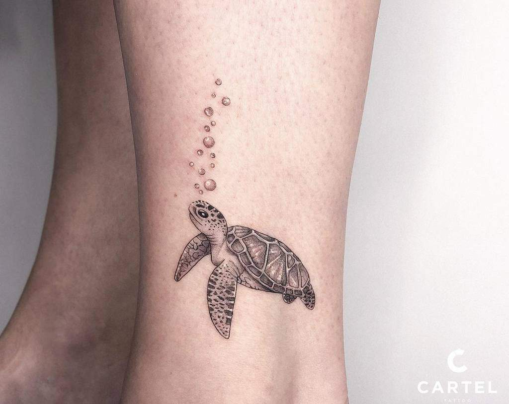 Small Turtle Ankle Tattoos cartelkyiv