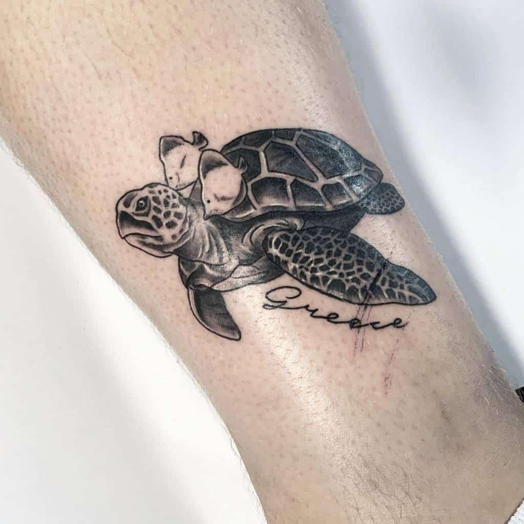 Small Turtle Ankle Tattoos raventattoozante