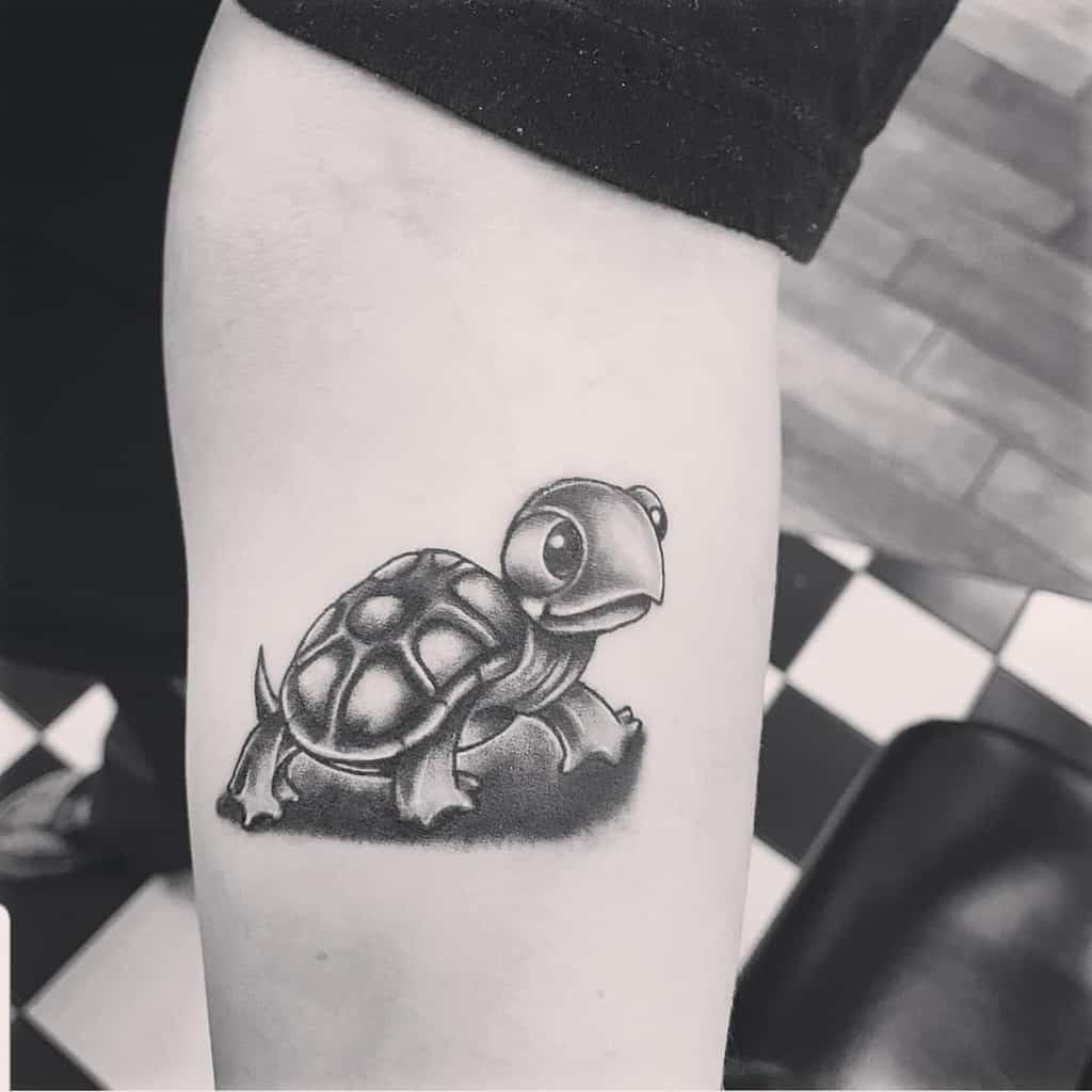 Small Turtle Forearm Tattoos chupacabronterror