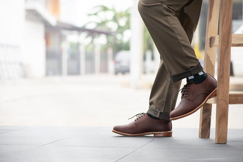 Fashion,Mens,Legs,With,Trousers,And,Brown,Shoes,Leather,For