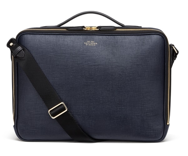 Smythson Panama Zip Around Messenger Bag
