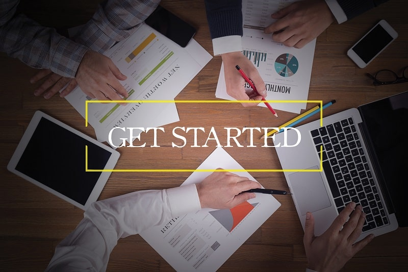Start today - Successful businessman