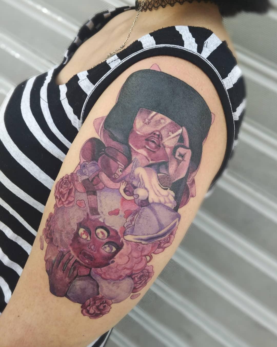 Granat Steven Universe Tattoo -alicegnz