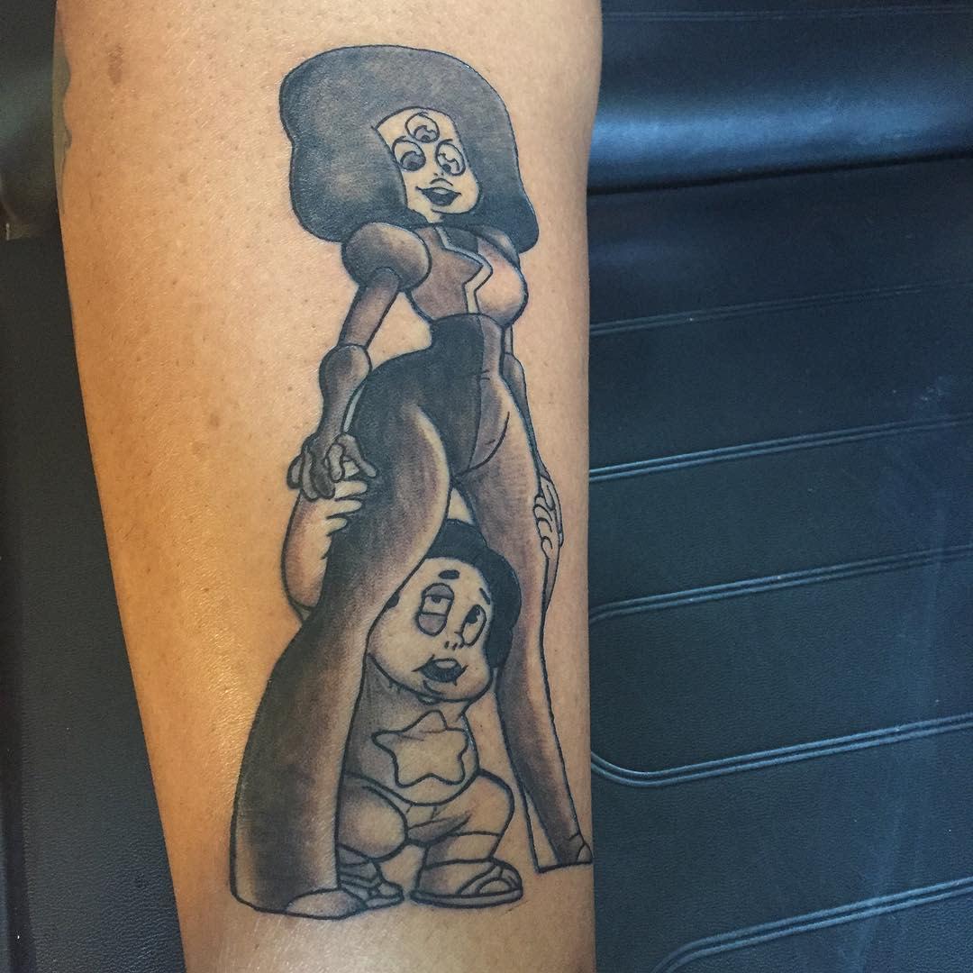 Granat Steven Universe Tattoo -nurdy_tattooist
