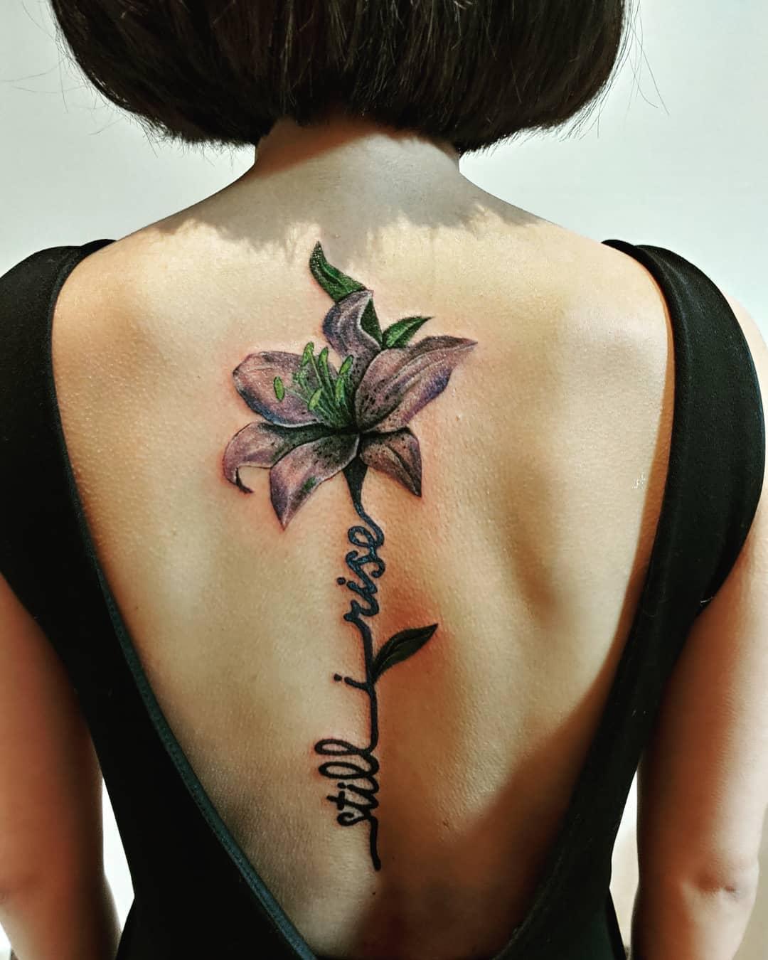 Back Still I Rise Tattoo -katie_ho2402