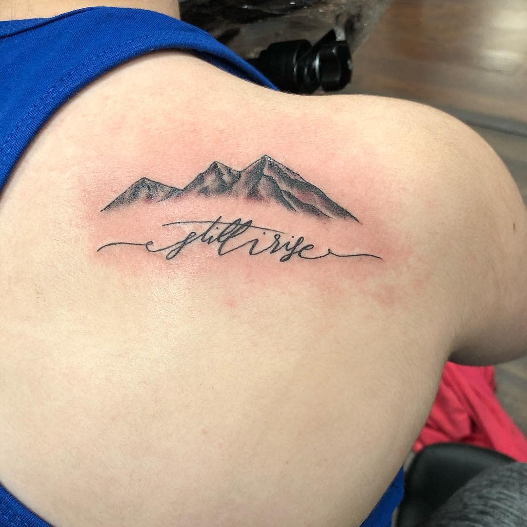 Back Still I Rise Tattoo -reggietherascal13