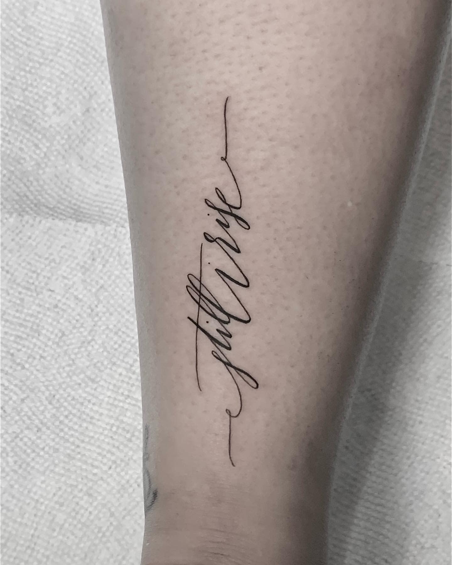Cursive Still I Rise Tattoo -hollywoodstarstattoo