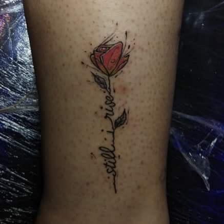 Flower Still I Rise Tattoo -b2tattoo_studio