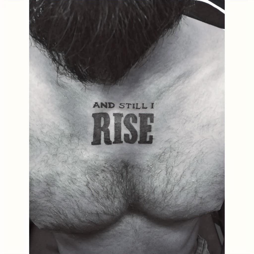Simple Still I Rise Tattoo -akilkrishnastories