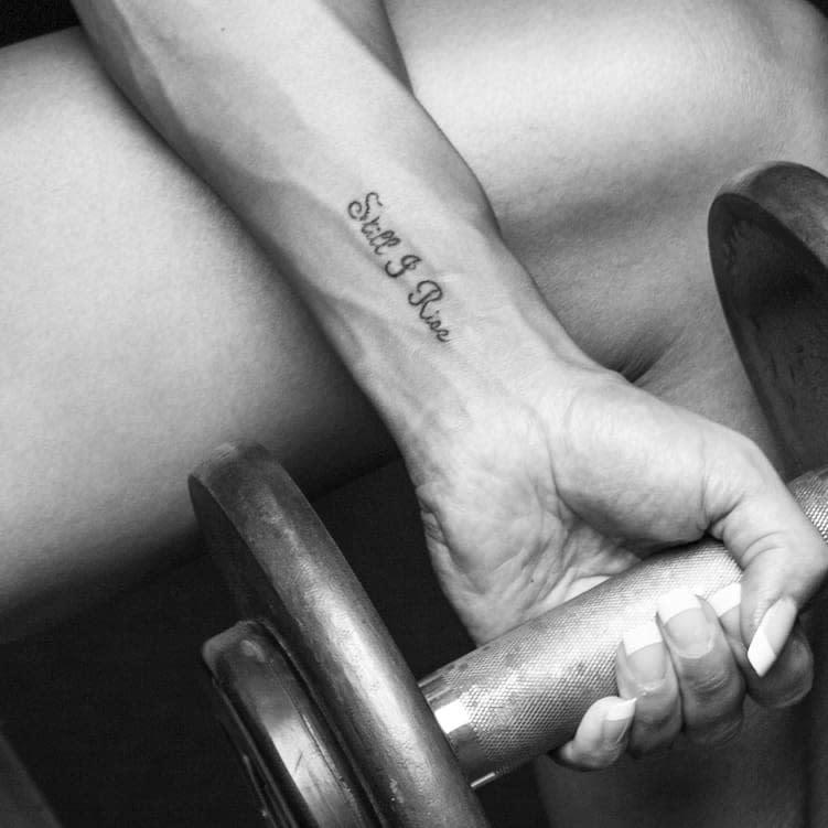 Wrist Still I Rise Tattoo -iwona.waffles