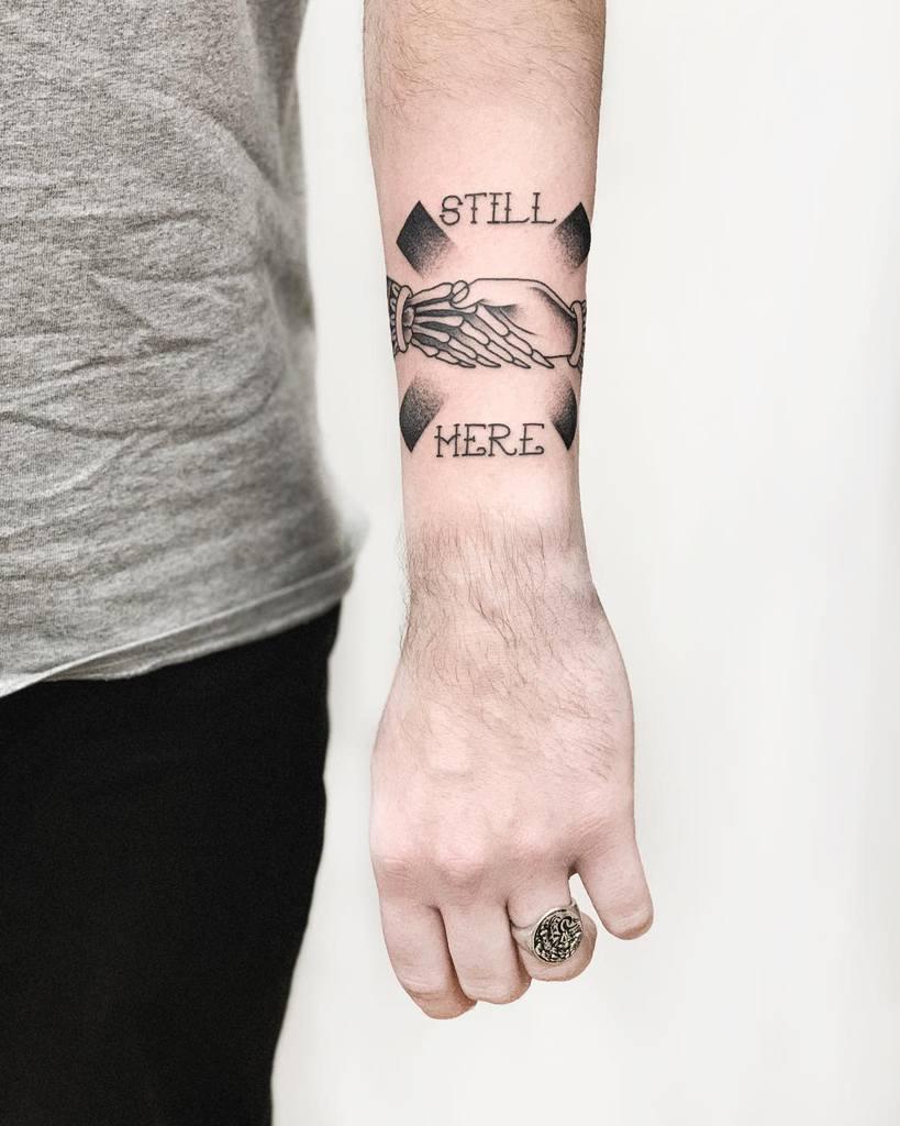 Straight Edge Arm Area Tattoo Y.miroo