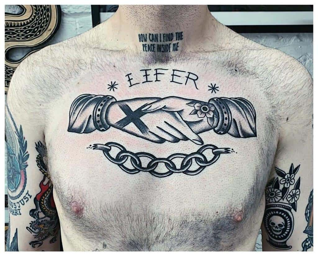 Straight Edge Chest Tattoo Harljcx
