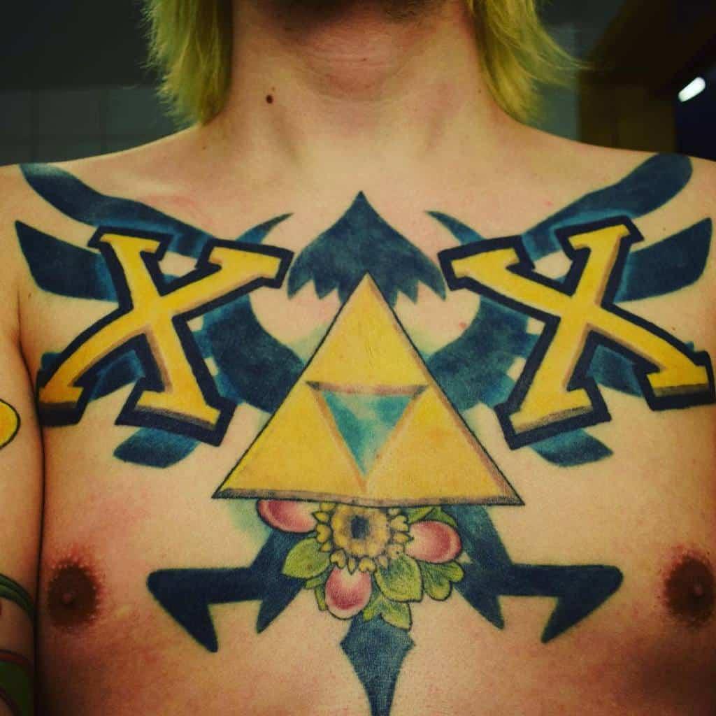 Straight Edge Chest Tattoo Xknucklejoex