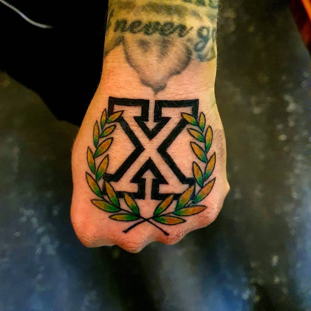 Straight Edge Hand Tattoo Gbghctattoos