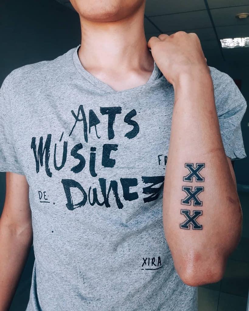 Straight Edge Symbol Tattoo Darya Tattoo Aktau