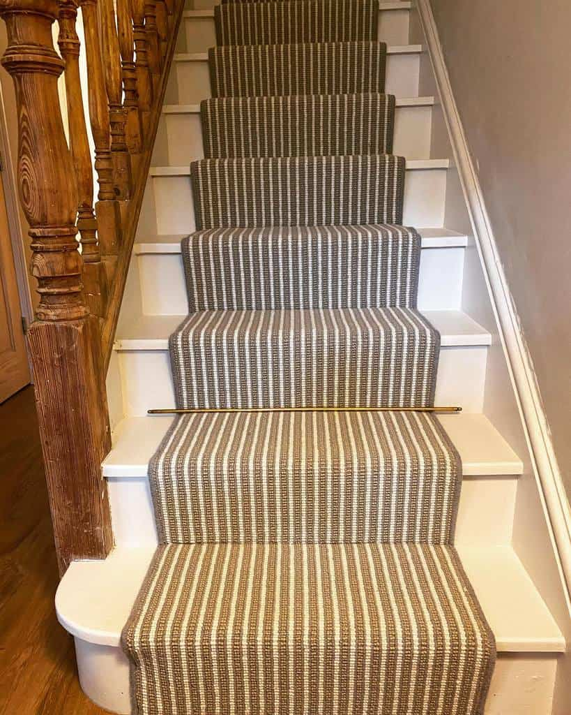 Striped Stair Runner Ideas -our.cambridge.home