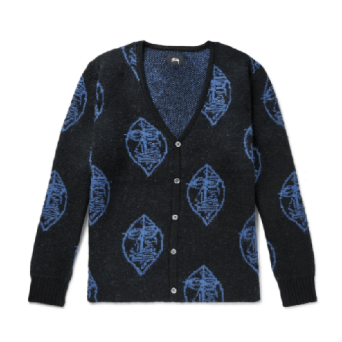 Stussy-Jacquard-Knit-Cardigan