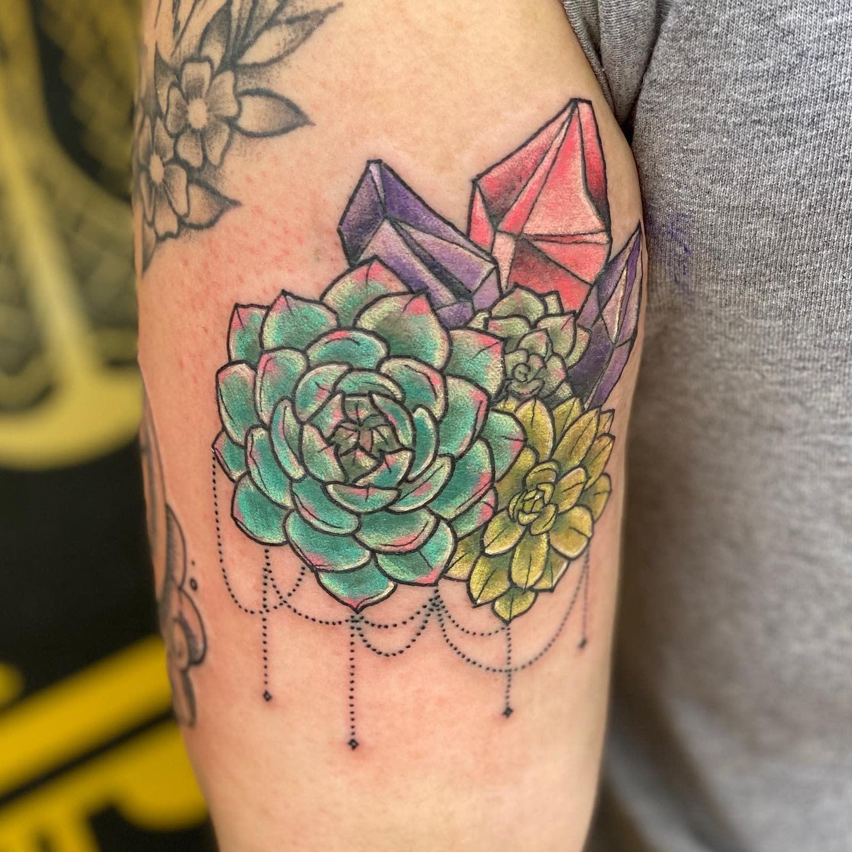 Colorful Succulent Tattoo -dudubrat