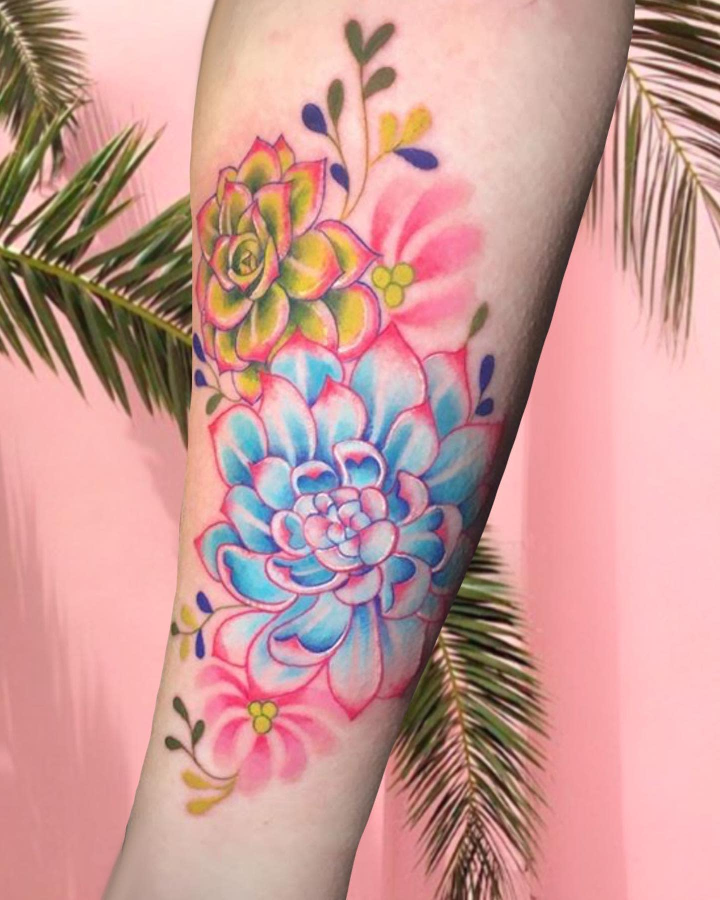 Colorful Succulent Tattoo -shelbit_