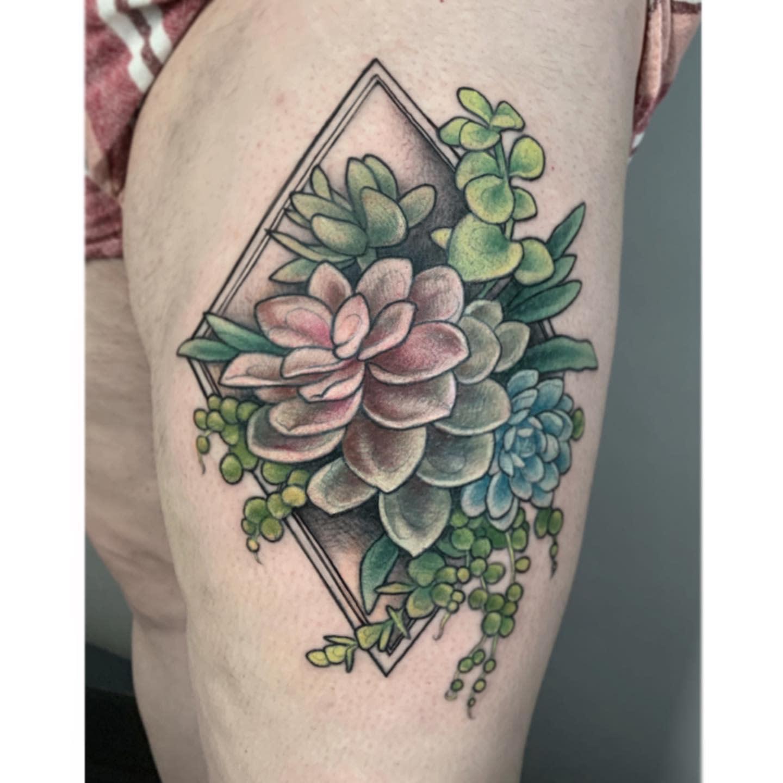 Geometric Succulent Tattoo -quagswag