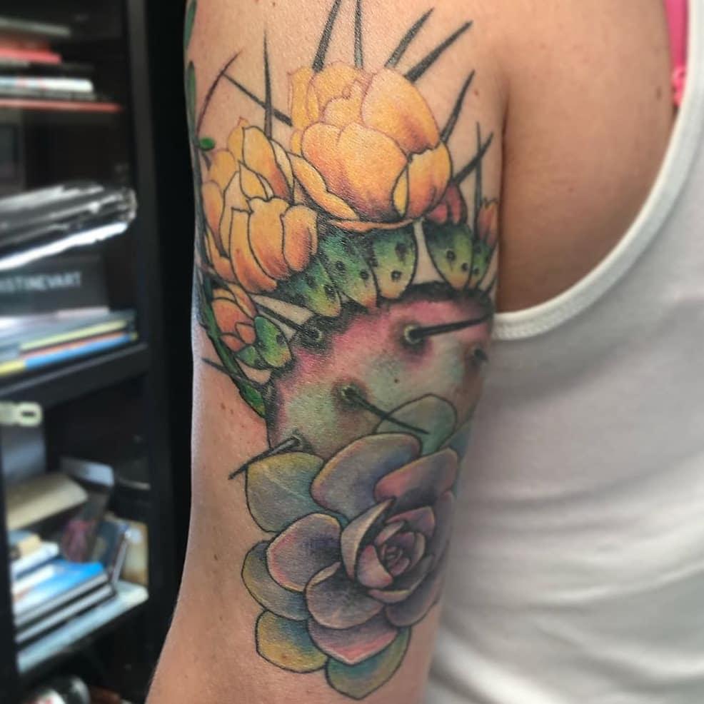 Realistic Succulent Tattoo -urbanarttattooaz