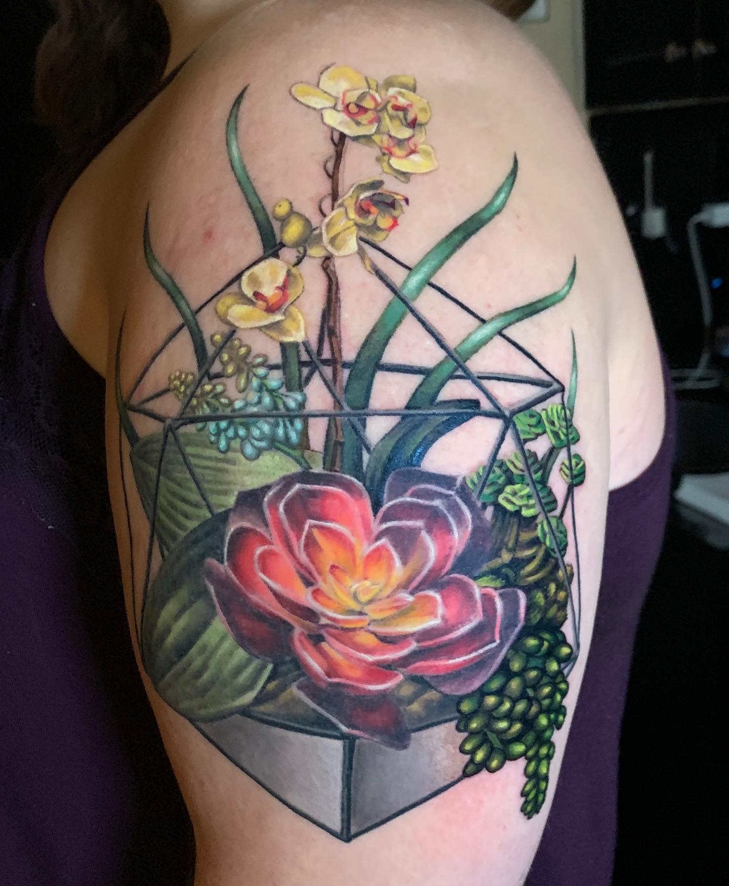 Terrarium Succulent Tattoo -i_shapiro