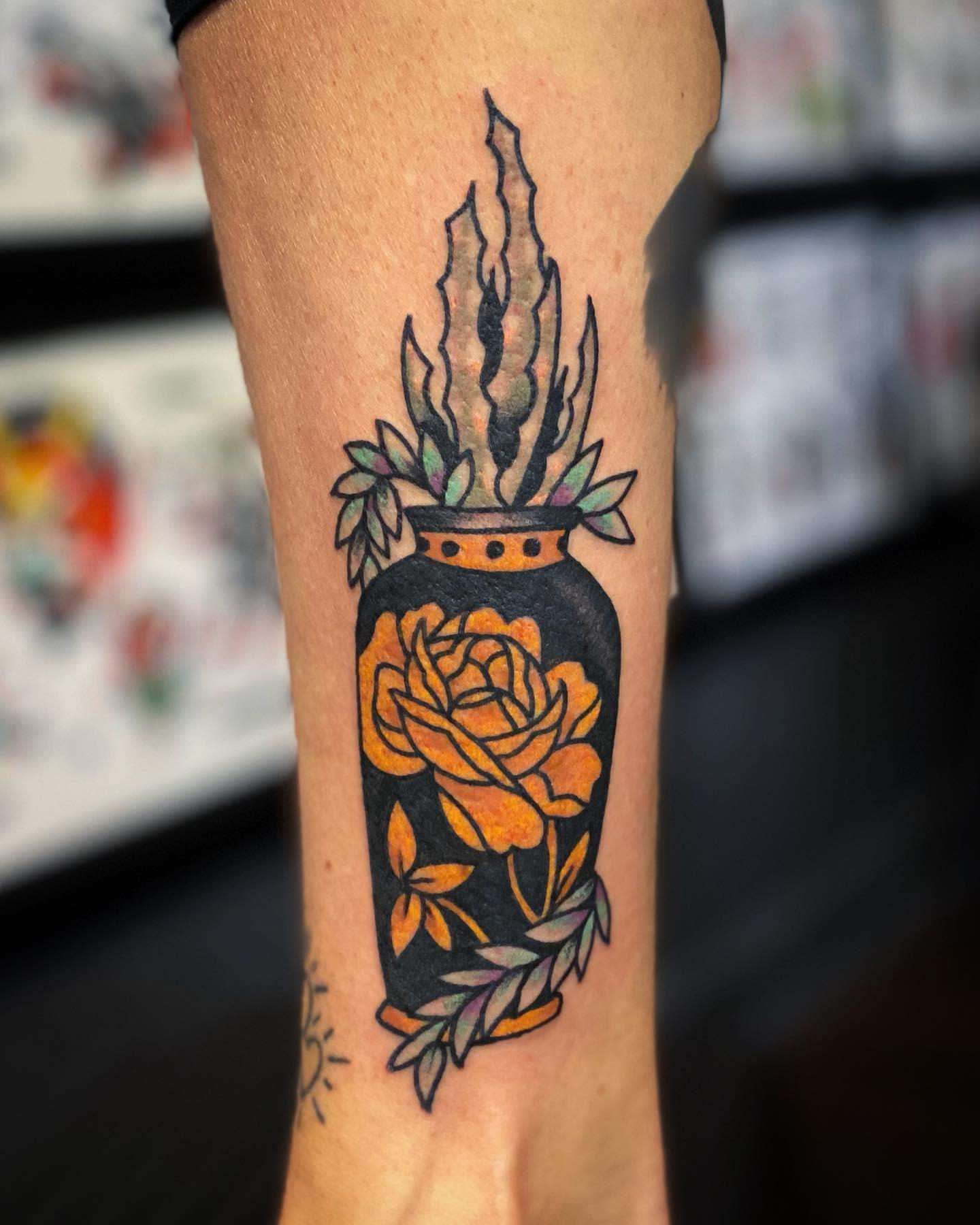 Traditional Succulent Tattoo -klugtattoo