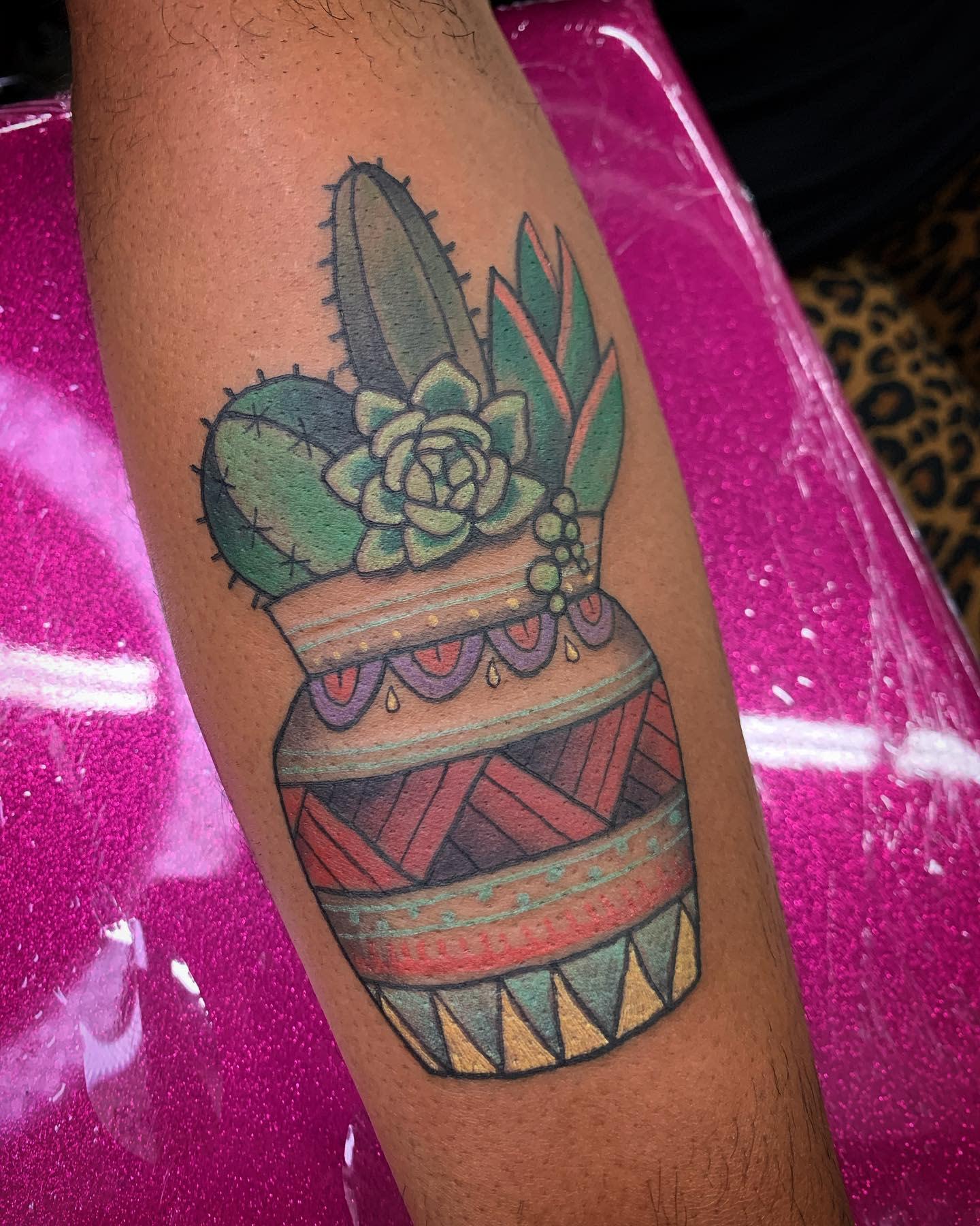 Traditional Succulent Tattoo -strangeworksjb