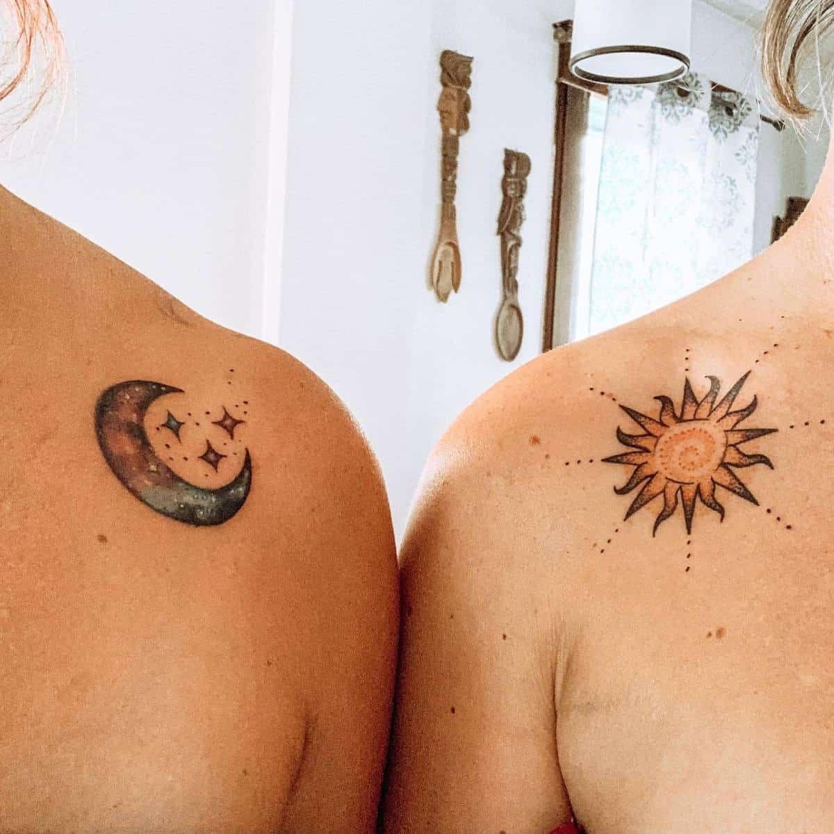 Sun and Moon Matching Tattoos duhhh_sunshine