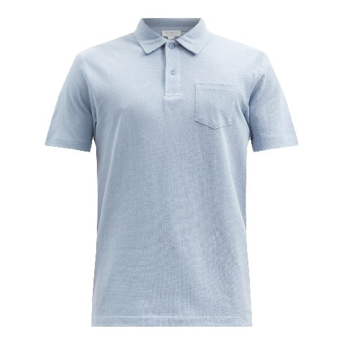 Sunspel Riviera Chest-Pocket Cotton-Pique Polo