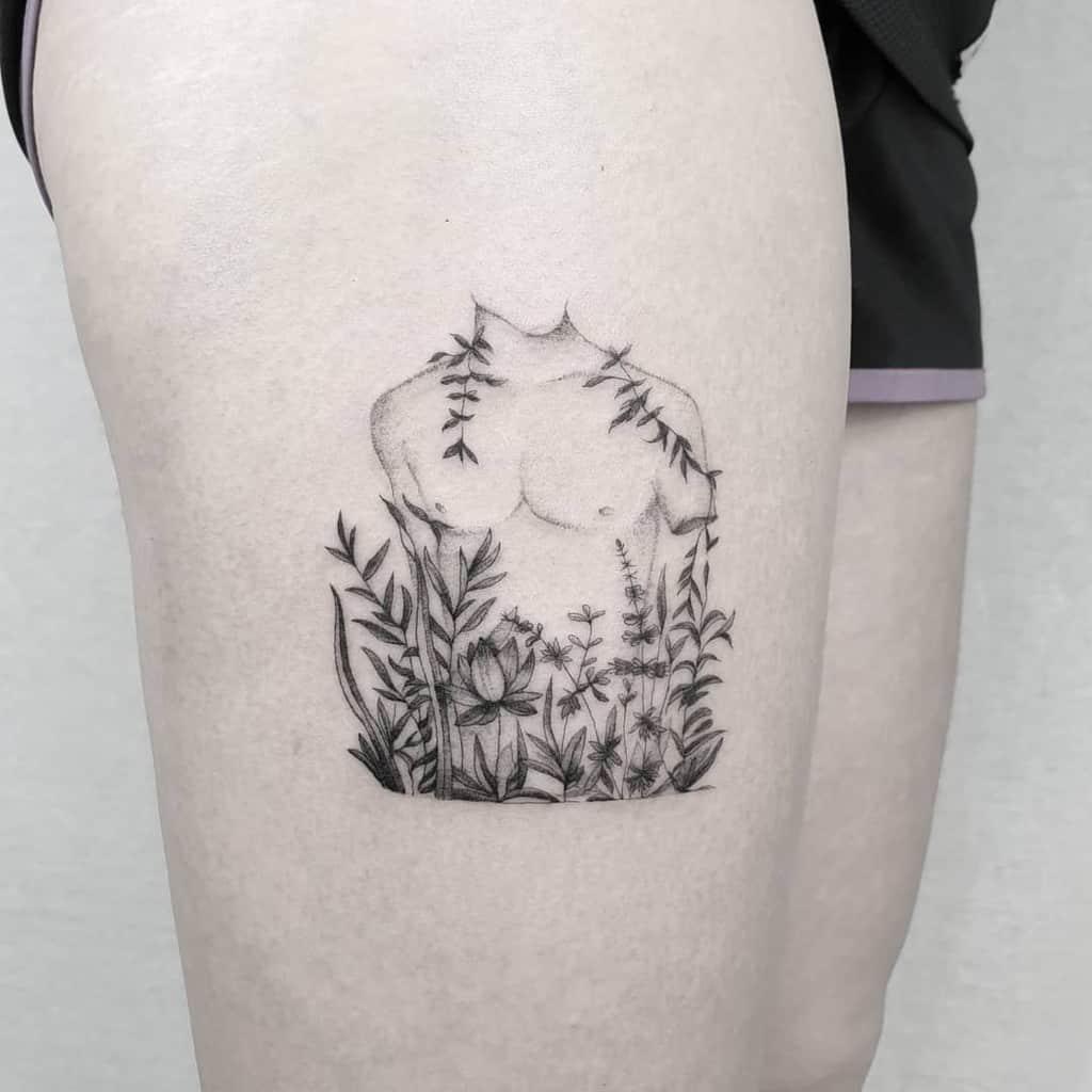 tulip-flower-black-work-single-needle-tattoo-danielnijveld_com