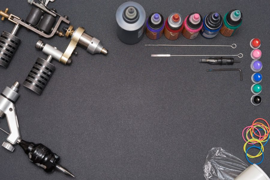Tattoo Kit With Needles And Ink