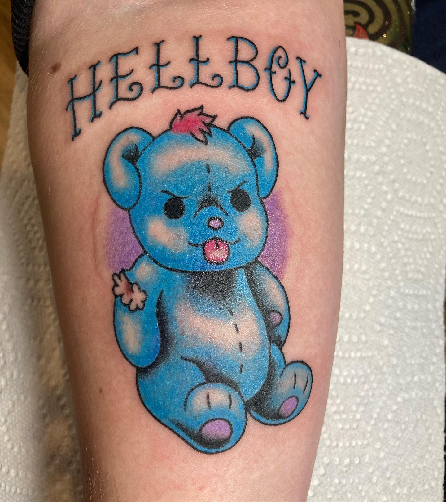 Traditional Teddy Bear Tattoo -frogbellys
