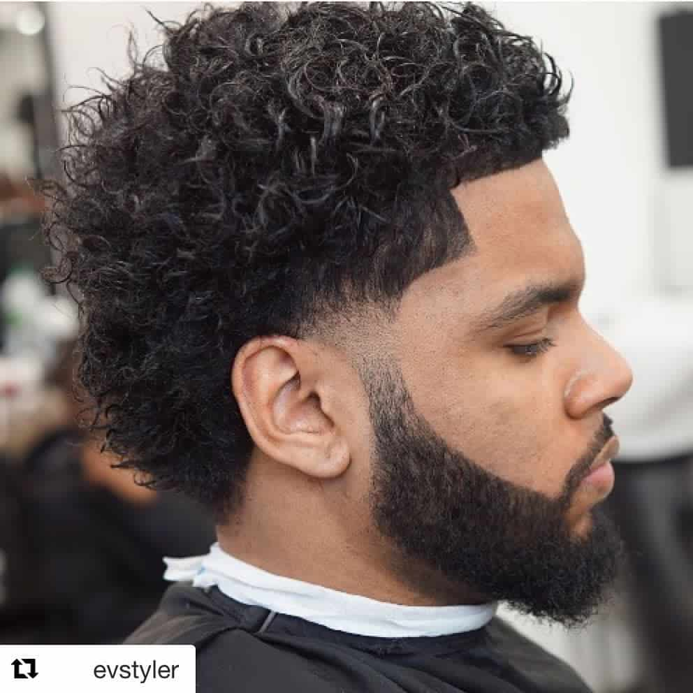 Temp Fade With Curly Hair