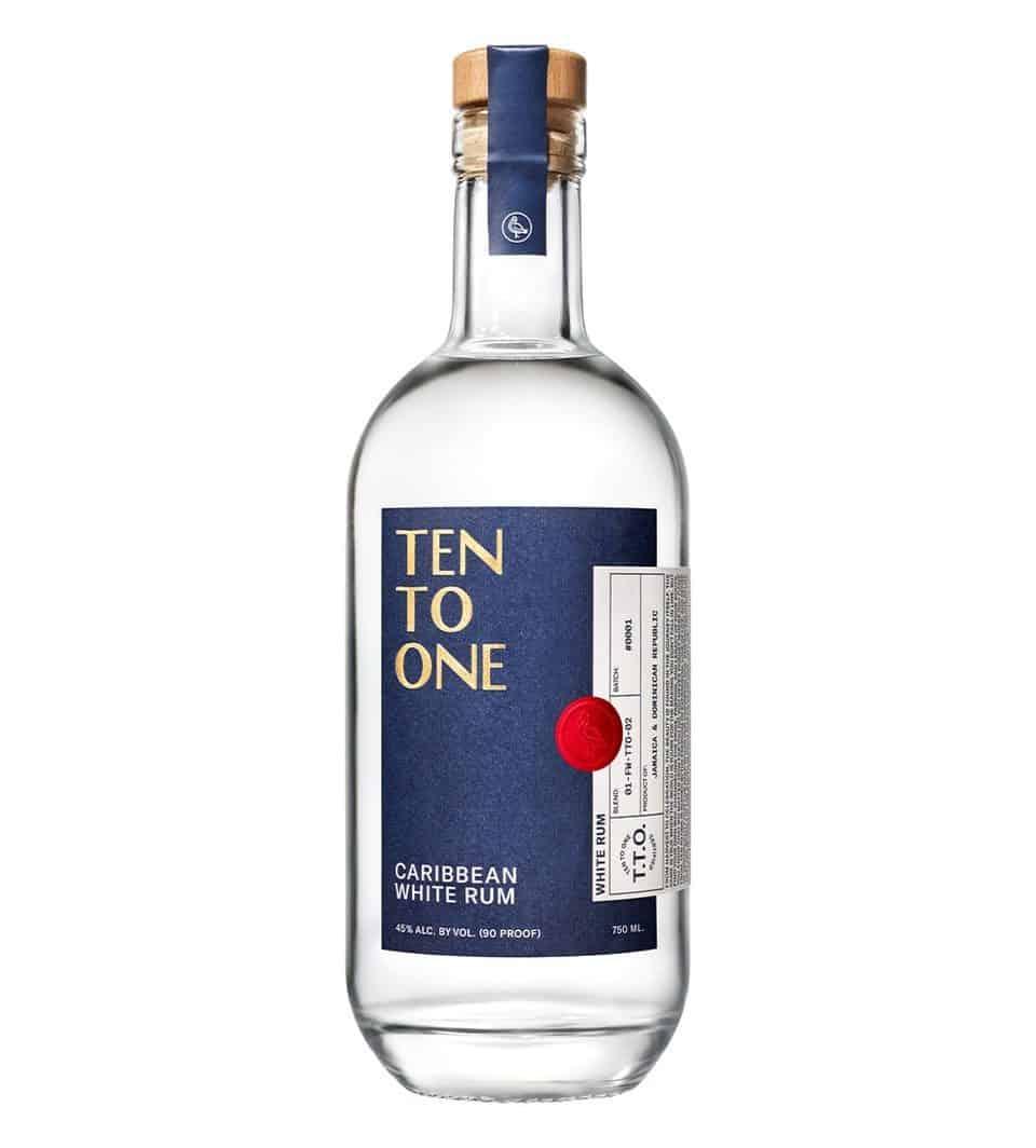 Zehn zu eins weißer Rum