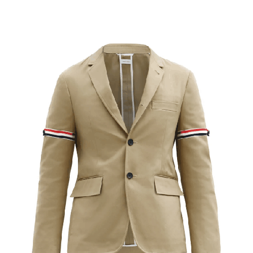 Thom-Browne-Tricolour-Single-Stripe-Breasted-Cotton-Blazer
