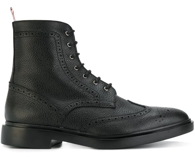 Thom Browne Wingtip Ankle Boots