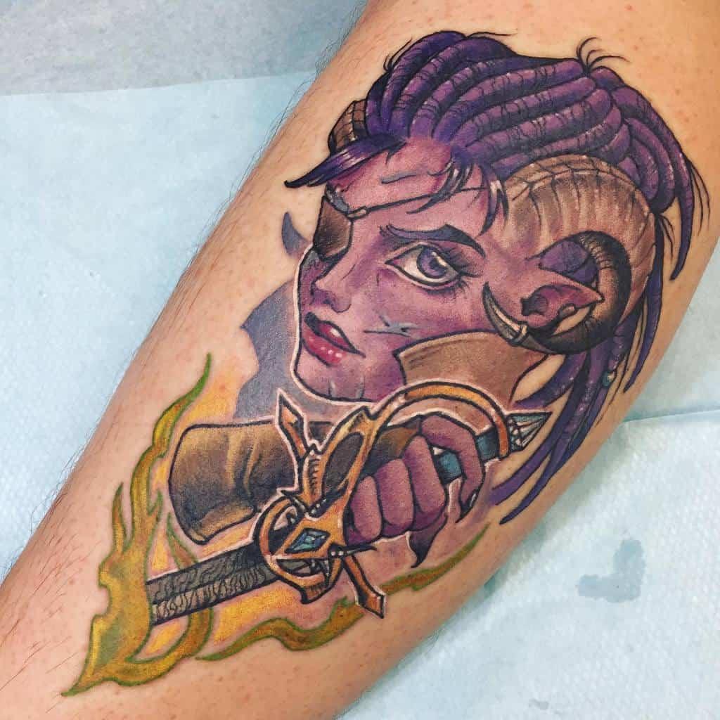 Tiefling Dungeons And Dragons Tattoos Necromandi