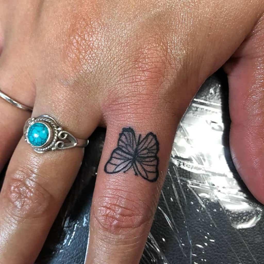 Tiny Black Butterfly Tattoo mr.inkwells