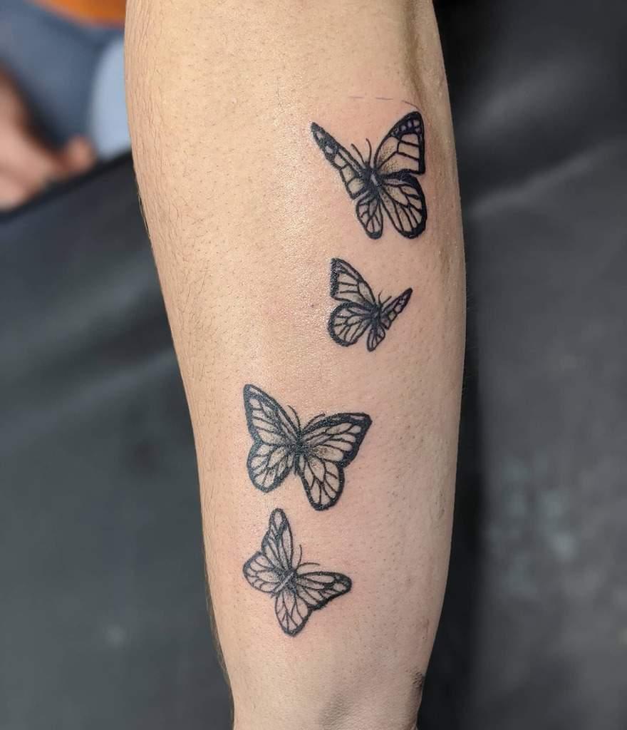 Tiny Black Butterfly Tattoo tatucreature