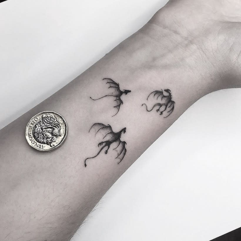 Tiny Game of Thrones Dragon Tattoo jfostertattoo